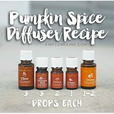Pumpkin Spice Diffuser Recipe Young Living Essential Oils
