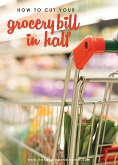 Want to know the secrets to saving big on food (Spoiler--It s not always using coupons!) These 5 simple strategies can save you hundreds each month on the food your family already buys.How to Cut Your Grocery Bill in Half Money Saving Meals, Save Money On Groceries, Ways To Save Money, Money Tips, Money Savers, Living On A Budget, Frugal Living Tips, Frugal Tips, Budgeting Finances
