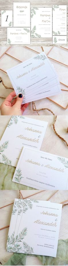 Coco Modern Wedding Stationery Template INDD, PDF Invitation