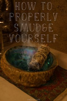 Learn how to properly smudge yourself and others with these simple tips from Om Livin' as well as a quick history of this ancient ritual. Clears negative energy and is a fun spiritual practice. Smudging Prayer, Sage Smudging, Spiritus, Smudge Sticks, Mind Body Spirit, Book Of Shadows, Yoga Meditation, Meditation Space, Natural Healing
