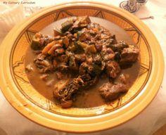 Tajine d'agneau, pruneaux, courgettes, raisins, fenouil