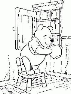 obr. 704 - omalovánky Medvídek Pú pohádky