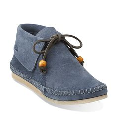 0ab3bbc3f609 Tyler Weave in Denim Blue Suede - Womens Shoes from Clarks Blue Suede
