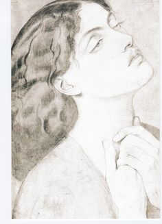 "Study of Guinevere for ""Sir Launcelot in the Queens chamber"", 1857 by Dante Gabriel Rossetti"
