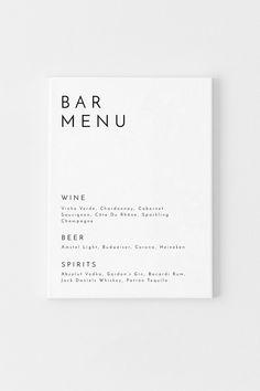 Menu Restaurant, Bar Menu, Restaurant Identity, Menu Wedding, Wedding Signs, Drink Menu Design, Menu Card Design, Stationery Design, Cover Design