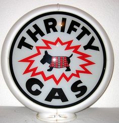 We buy, sell, and appraise Thrifty Gas Globe Porcelain Signs. We can tell you what your sign is worth in today's market. We are serious buyers and sign experts and dealers. Old Gas Pumps, Vintage Gas Pumps, Pompe A Essence, Old Gas Stations, O Gas, Porcelain Signs, Oil Industry, Old Signs, Oil And Gas