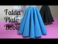 Falda doble circular larga - YouTube