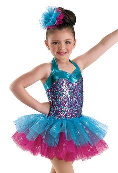 Girls' Sequin Tiered Dance Dress; Weissman Costume