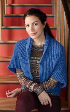 Lion Brand® Pound of Love® Bolero #crochet #pattern