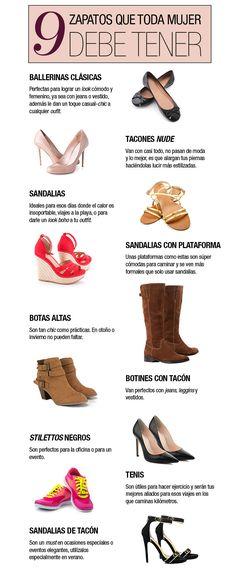 9 tipos de zapatos básicos en el closet de toda mujer | MiestiloMK