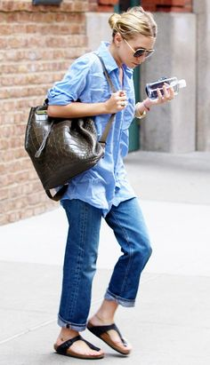 Obsessed with this casual look! // #celebritystyle