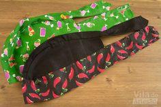 Montei este molde pra você que também procurou por uma bandana multiuso. Vem ver como é fácil de costurar.