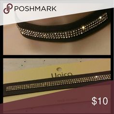 Suede Rhinestone Choker Necklace Glam chic 12-14.5in Adjustable ??make me an reasonable offer?? ??Brand new High quality?? ??What u see is what u get?? ?10% off 2 or more? ?Please check out my closet? ?All prices have Been reduced? ?Buy with confidence ????? Top Rated Seller ?next day shipping I'm raising money for my family every like share n purchase is greatly Appreciated. Jewelry Necklaces