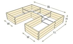 Natural Cedar U-Shaped Raised Garden Beds - Modern Watering Raised Garden Beds, Raised Beds, Garden Pests, Garden Planters, Garden Boxes, Backyard Lighting, Covered Pergola, Bed Plans, Companion Planting