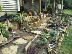 My fairy garden by krafty kathy