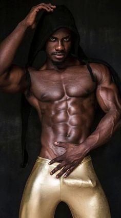 Brechen Nacktes Körperbild von schwarzen Männern