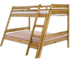 Castleford Wooden Triple Sleeper Bunk Bed In Blue Triple Sleeper Bunk Bed, Triple Bunk Beds, Double Beds, Adult Bunk Beds, Kid Beds, Pine Bunk Beds, Triple Bed, Modern Bunk Beds, Lit Simple