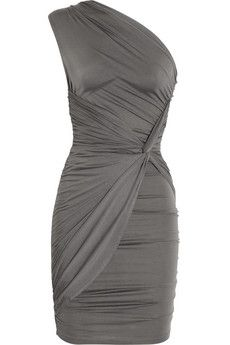 Veronica ruched stretch-jersey dress