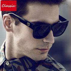 High Quality Square Sun Glasses For Men UV400 Male Sunglasses Men Brand Designer 2017 New Oculos Shades Male Sunglass Mirror #Affiliate