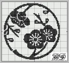 Circle of Flowers · Cross-Stitch I see another hankie in the near future. Cross Stitch Tree, Cross Stitch Flowers, Cross Stitch Charts, Cross Stitch Designs, Cross Stitch Patterns, Cross Stitching, Cross Stitch Embroidery, Embroidery Patterns, Crochet Chart