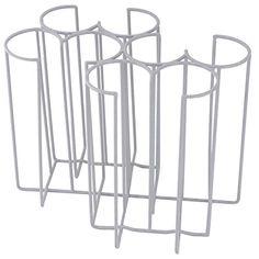 Tassenhalter aus verschweißtem, kunststoffummanlteten Stahldraht, sehr stabil, ideal zum Transportieren und Lagern von Stapeltassen und -gläsern / 35,5 x 27,5 x 30 cm | ERK