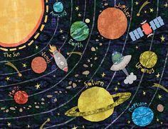 Super Solar System, Solar System Art Prints | Oopsy daisy