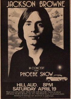 Jackson Browne 11x17 Mini Poster