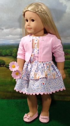 "Debs LAVENDER Pastel EASTER Dress Doll Clothes For AG 14/"" Wellie Wisher Wishers"
