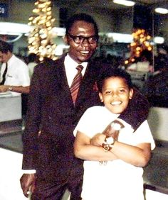 Barack Obama II with his father, Barack Obama I