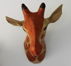 GIRAFFE NATURAL PAPIER-MÂCHÉ HEAD - Animal Heads - Wall Decor - Kids by DwellS  nursery decor