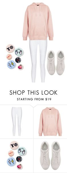 """Casual but cute"" by hana-chicos ❤ liked on Polyvore featuring 10 Crosby Derek Lam, New Look, Bing Bang and Fendi"