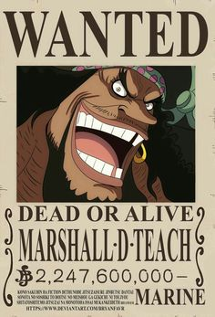 'Blackbeard bounty Poster' Poster by One-piece-World Poster One Piece, Ace One Piece, One Piece Photos, One Piece Chapter, One Piece World, One Piece Anime, Marshall D Teach, Wanted One Piece, Blackbeard One Piece