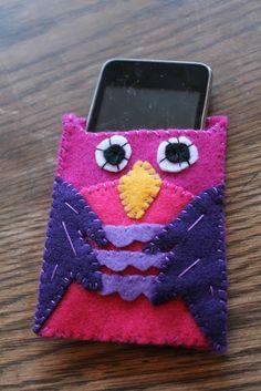 Felt Owl iPod Case