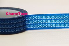 Blue Swirls Washi Masking Tape Roll Adhesive Stickers WT77 CharmTape at Etsy