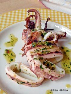 Calamar con aliño mediterraneo