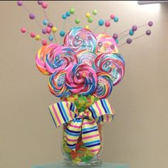 Candy Bouquet centerpiece idea