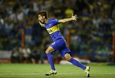 Betancur, la joya xeneize festejando su gol vs Newells
