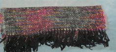 Stained Glass  Hand woven black and multi wool and by SpiderDi, $70.00