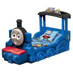 Desmond had a Thomas the Train bed!