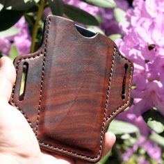 Beautiful handcrafted brown leather is classy and refined while at the same time rugged and protective. Very comfortable and low profile this