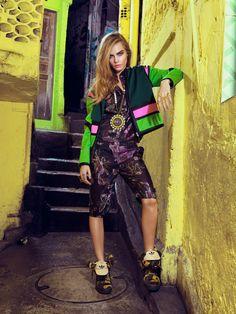 Publication: Vogue Brazil February 2014 Model: Cara Delevingne Photographer: Jacques Dequeker Fashion Editor: Pedro Sales Make-up: Max Weber