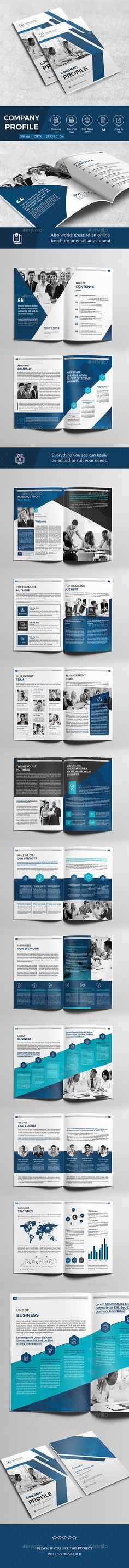 Company Profile — Photoshop PSD #brochure • Download ➝ https://graphicriver.net/item/company-profile/18867251?ref=pxcr