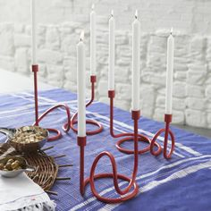 Como Loopy Candleholders - Great Paola Navone collection at C&B Paola Navone, Table Throw, Lantern Candle Holders, Christmas Table Settings, Home Decor Inspiration, Decor Ideas, Gift Ideas, Tea Light Holder, Red Christmas