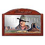 John Wayne Saloon Mirror: Western Legend Wall Decor