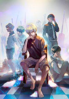 All of Kaneki Tokyo ghoul FB : Sweet Castle Anime Love, Anime Guys, Manga Anime, Anime Art, Tokyo Ghoul Fan Art, Ken Kaneki Tokyo Ghoul, Touka Kirishima, Touka Kaneki, Arte Emo