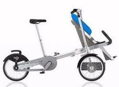Bike and stroller/carrier attached Designer Prams, Urban Bike, Cargo Bike, Build Your Own, Cool Gadgets, Health And Wellness, Cool Stuff, Kids, Baby