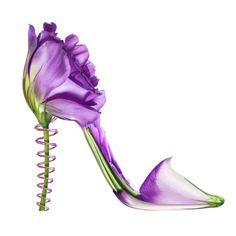 So schön können Blumen sein #twbm #shoe #flower #blumen #high heel