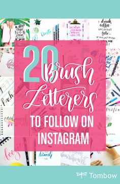 20 Brush Letterers to follow on Instagram
