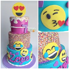 emoji cake [instagram: @sophiesweetshop and sophiesweetshop.com in carson, california]
