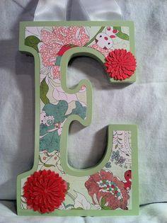 Custom Wooden Hanging Wall Letters  Nusery by KraftyLawyerDesigns, $20.00